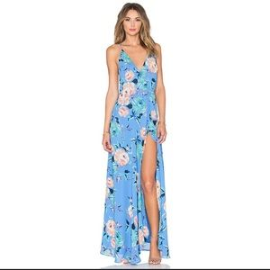 Yumi Kim Rush Hour Maxi Dress in Blue Floral XS